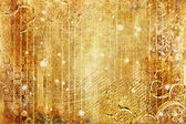Striped background in golden colors — Stock Photo
