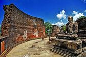 佛陀在波隆纳鲁沃寺-中世纪资本的锡兰,教科文组织世界遗产站点 — 图库照片