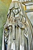 Beautiful dark sculptures - Staglieno cemetery, Genoa,Italy — Stock Photo