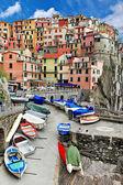 Cores da série ensolarada itália - monarolla, cinque terre — Foto Stock