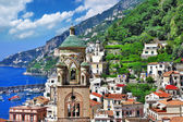 Beautiful Amalfi, panorama of city.- Italy — Stock Photo