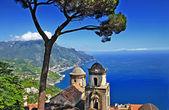 Costa de amalfi pictórica - ravello — Foto Stock