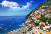 Beautiful Positano. Amalfi coast. bella italia series — Stock Photo