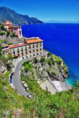 Stanning costa amalfitana - aldeia de atrani — Foto Stock