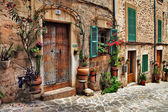 Charming streets of old mediterranean towns — Стоковое фото