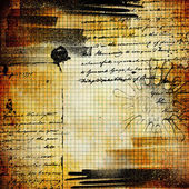 Artwork with handwritings in grunge style — Stock Photo
