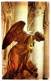 Praying angel - artistic picture in retro style — Zdjęcie stockowe