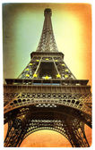 Eiffel tower -artistic picture in retro style — Stock Photo