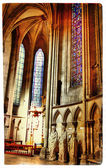 Catholic cathedral in Ruan-France -artistic picture — Stock Photo