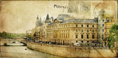 старинный парижский карты серии — Стоковое фото