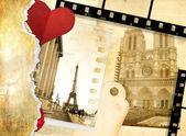 Miłość paryż - sztuka foto album — Zdjęcie stockowe