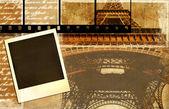 Old photo album - memories about Paris — Stock Photo