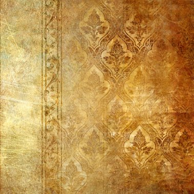 Vintage shabby wall paper with classy patterns