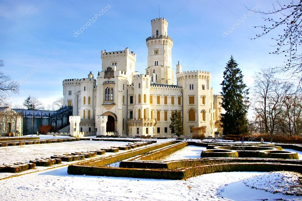 Romantic white castle (Czechia)  Stock Photo #12767941