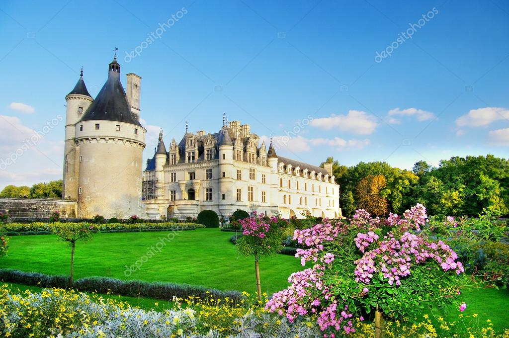 Beautiful Chenonceau castle   Stock Photo #12767947
