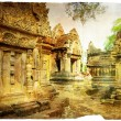 Ancient cambodian temple - artistic toned picture - Stock Photo