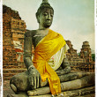 Buddha in ancient Ayutthaya — Foto Stock