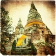 ancient temple in ayutthaya — Stock Photo
