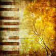 Autumn music — Stock Photo