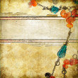 Retro background with beads — 图库照片 #12795321