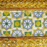 Vintage thai style golden background — Stock Photo