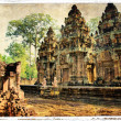 Cambodia temple ruins - Stock Photo