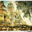 Ancient cities of Thailand - artwork in painting style — Stock Photo