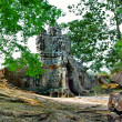 Mysterious hidden temples in ancient Cambodia - Stock Photo