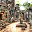 Cambodia temple' ruin - Stock Photo