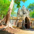 Ancient Angkor gates in Cambodia — Foto Stock