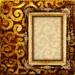Vintage cooper background with empty frame — Foto Stock