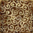 Vintage brown background with golden patterns - Foto Stock