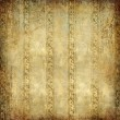 Shabby golden wallpaper - vintage background — Stock Photo
