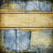 Vintage jeans background with place for text - Stock Photo