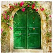 Stock Photo: Old pictorial greek doors