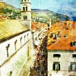 Royalty-Free Stock Photo: Ancient Dubrovnik - artistic picture in painting style