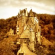 Beautiful Eltzburg castle (Germany) - artistic toned picture — Stock Photo