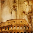 Old Rome - conceptual collage in retro style - Stock Photo