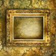 Antique blank frame over vintage background — Stock Photo