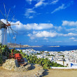 Stock Photo: Sunny beautiful Mykonos - amazing greek islands series