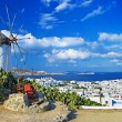 Sunny beautiful Mykonos - amazing greek islands series — Stock Photo