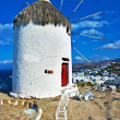 Windmills of Mykonos - amazing greek islands series - Stock Photo