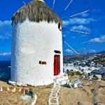 Windmills of Mykonos - amazing greek islands series — Stock Photo #12797154