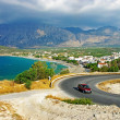 Mountain panorama in Adriatic - Stock Photo