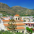 Cretan town Paleohora - view with church - Stockfoto