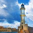 Stock Photo: Chania Crete (Greece) - dramatic image of light house