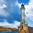 Chania Crete (Greece) - dramatic image of light house — Stock Photo