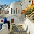 Colors of Santorini - pictorial Fira town - Stockfoto