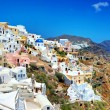 Romantic Santorini, view of Oia town — Stock Photo