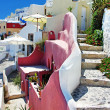 Pictorial streets of Santorini - Stock Photo